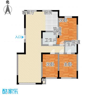 香水湾二期121.85㎡香水湾二期户型图二期10号楼户型图3室2厅2卫1厨户型3室2厅2卫1厨