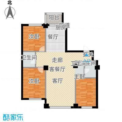 东城宜家129.50㎡H户型3室2厅2卫1厨