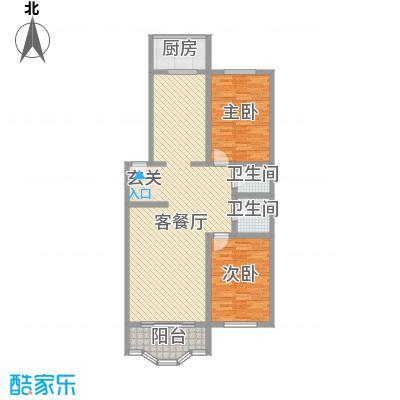 锦江花园128.00㎡锦江花园户型图2室2厅2卫1厨户型10室