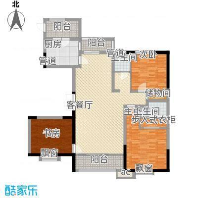 恒盛豪庭162.00㎡恒盛豪庭户型图3#、4#楼E-1户型图3室2厅2卫1厨户型3室2厅2卫1厨