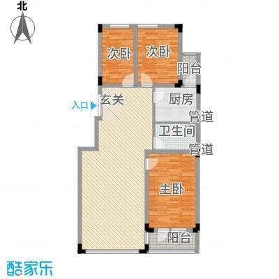 亿洲百旺郦城119.82㎡亿洲百旺郦城户型图3室2厅1卫户型10室