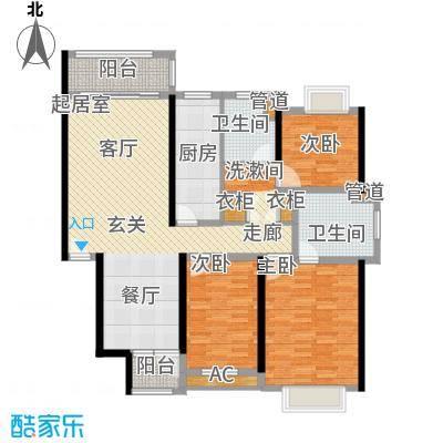 春天花园130.95㎡春天花园户型图3室2厅2卫户型10室