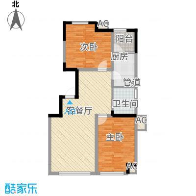 六合一方98.00㎡六合一方户型图一期D1户型图2室2厅1卫1厨户型2室2厅1卫1厨
