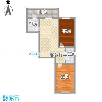 荣盛花园99.86㎡荣盛花园99.86㎡2室1厅1卫户型2室1厅1卫