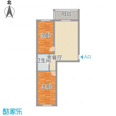 荣盛花园81.86㎡荣盛花园81.86㎡2室1厅1卫户型2室1厅1卫