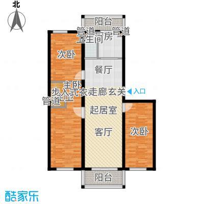 富民花园三期121.10㎡富民花园三期户型图3室2厅1卫户型10室