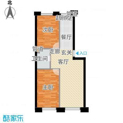 富民花园三期73.66㎡富民花园三期户型图2室2厅1卫户型10室