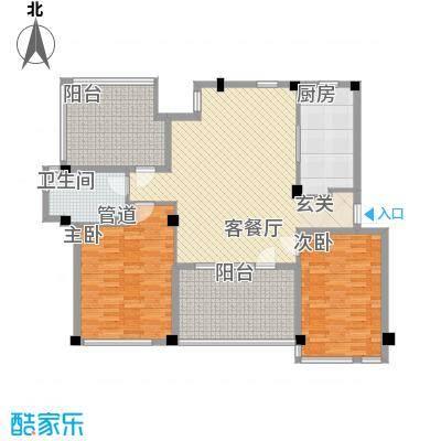 万科上东区106.54㎡万科上东区户型图2室2厅1卫1厨户型10室