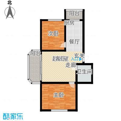 万通花园92.00㎡万通花园户型图2室2厅1卫1厨户型10室