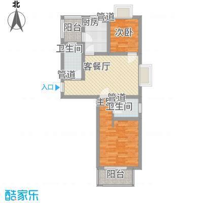 小上海新城三期79.00㎡小上海新城三期户型图J1户型2室2厅2卫1厨户型2室2厅2卫1厨