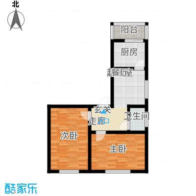 万通花园65.00㎡万通花园户型图2室1厅1卫1厨户型10室