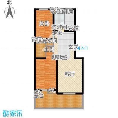 热电二区2室1厅户型2室1厅1卫1厨