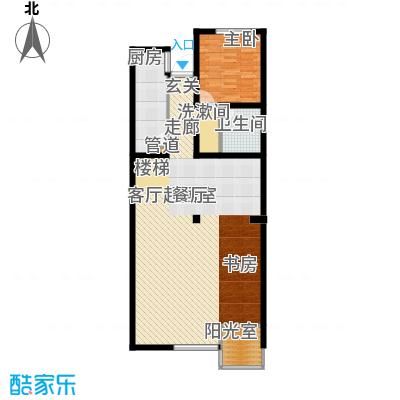 热电二区1室1厅户型1室1厅1卫1厨