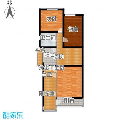 热电二区3室1厅户型3室1厅1卫1厨