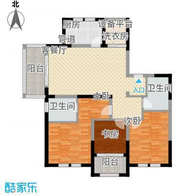 古北御庭135.00㎡古北御庭户型图6#C13室2厅2卫1厨户型3室2厅2卫1厨