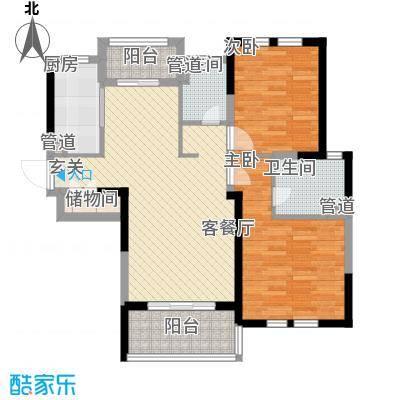 古北御庭106.00㎡古北御庭户型图6#C32室2厅2卫1厨户型2室2厅2卫1厨