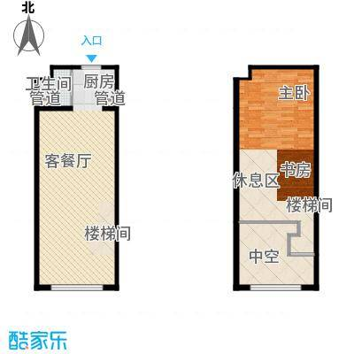 明翰国际60.19㎡明翰国际户型图LOFT公寓A2户型图1室1厅1卫户型1室1厅1卫