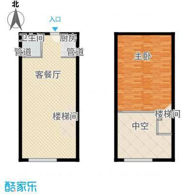明翰国际78.75㎡明翰国际户型图LOFT公寓B2户型图1室1厅1卫户型1室1厅1卫