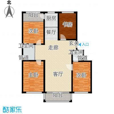 金达莱家园户型图4室2厅2卫