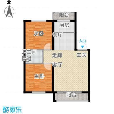 金达莱家园户型图2室2厅1卫