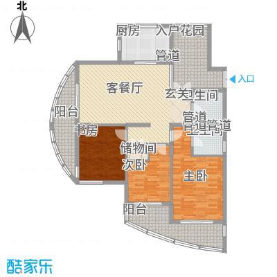 海洲桃花园二期户型图户型图D 3室2厅2卫1厨