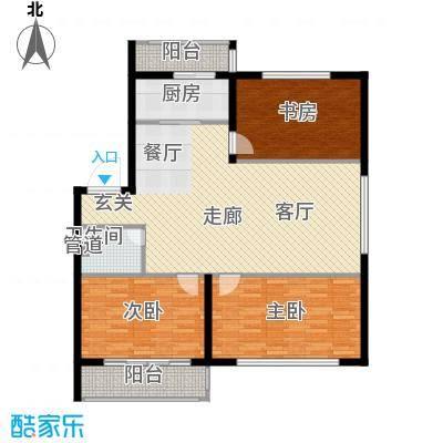 金达莱家园户型图3室2厅1卫