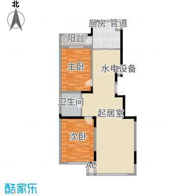 爵士A版107.32㎡爵士A版户型图2室2厅1卫户型10室