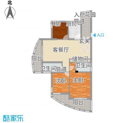 海洲桃花园二期户型图户型图F 3室2厅2卫1厨