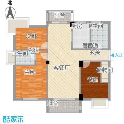 海洲桃花园二期户型图户型图G 3室2厅2卫1厨