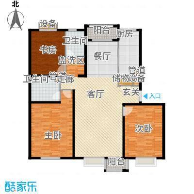 绿地英湖印象152.00㎡b户型3室2厅2卫