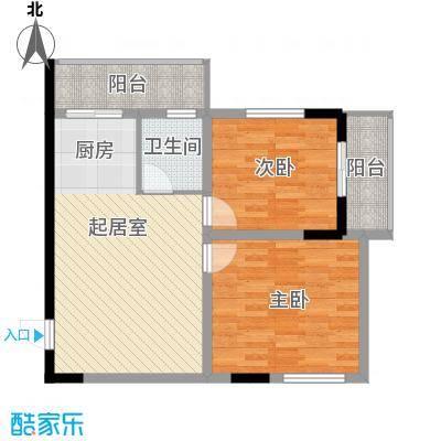 标点90.60㎡标点户型图2室1厅1卫户型10室