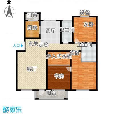 绿地英湖印象148.00㎡F2户型3室2厅2卫