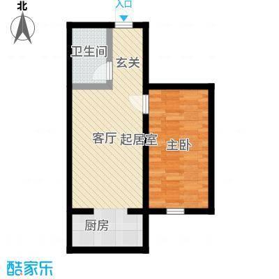 锦江花园三区47.05㎡锦江花园三区户型图1室1厅1卫1厨户型10室