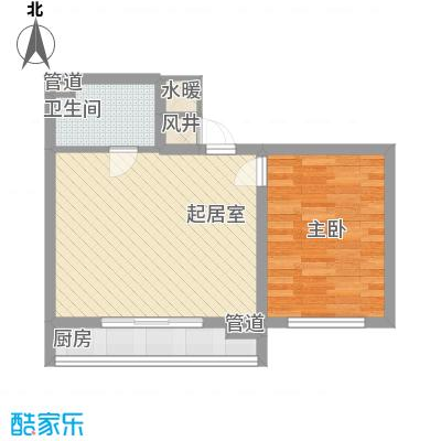 大众花园三期57.11㎡大众花园三期户型图1室1厅1卫户型10室