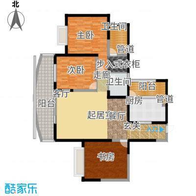苹果城147.80㎡B1-3户型2室2厅2卫1厨