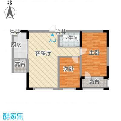 蓝色港湾89.00㎡蓝色港湾户型图1号楼B-2户型2室2厅1卫89㎡2室2厅1卫户型2室2厅1卫