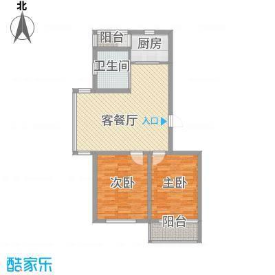 高格蓝湾95.00㎡高格蓝湾户型图D户型图2室2厅1卫户型2室2厅1卫