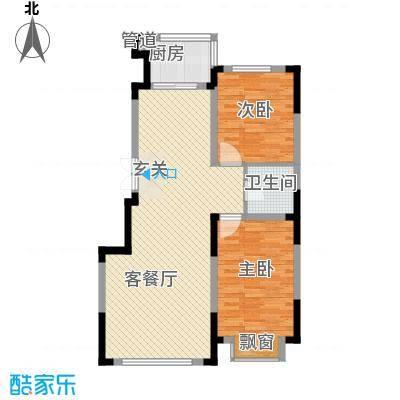怡众名城95.09㎡怡众名城户型图78#楼E户型图2室2厅1卫户型2室2厅1卫