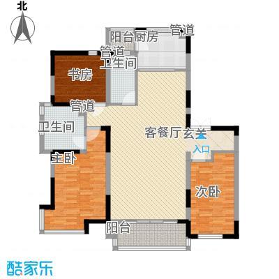 亚泰樱花苑160.00㎡高层C户型3室2厅2卫