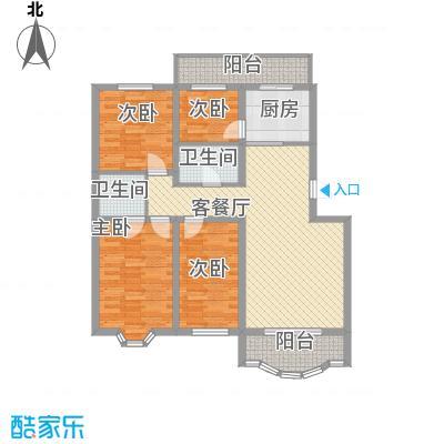 万达花园132.58㎡万达花园户型图3室2厅2卫1厨户型10室