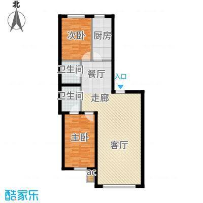 御景名家119.31㎡D户型2室2厅2卫1厨