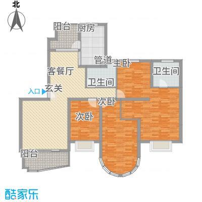 华丽家族花园178.00㎡华丽家族花园3室户型3室