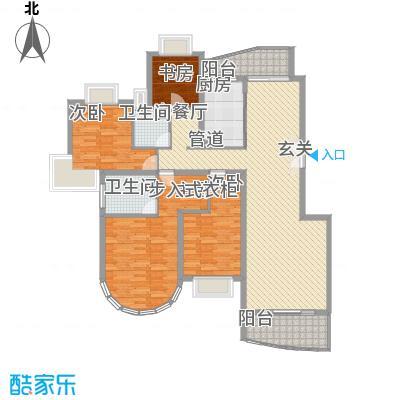 华丽家族花园156.00㎡华丽家族花园3室户型3室