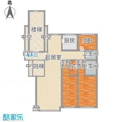 先行国际127.27㎡高层f户型3室2厅2卫1厨