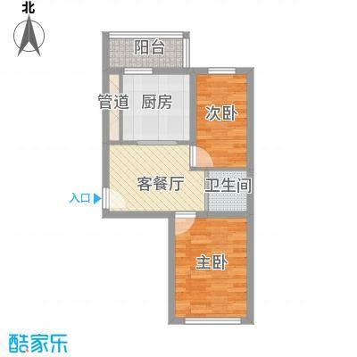 先行国际52.55㎡高层a户型2室1厅1卫1厨
