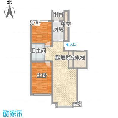 先行国际93.42㎡高层g户型2室1厅1卫1厨