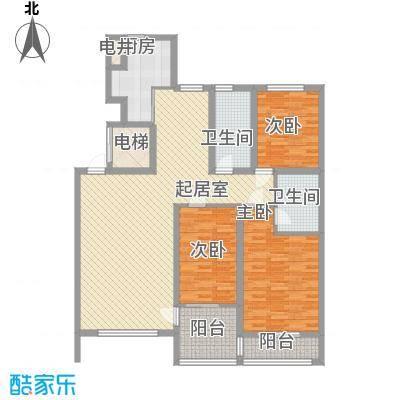 金质融城134.19㎡金质融城户型图二期C2户型图3室2厅2卫户型3室2厅2卫
