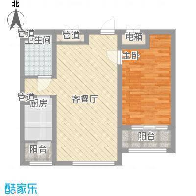 隆德帝景67.24㎡隆德帝景户型图12#高层A2户型图1室2厅1卫户型1室2厅1卫