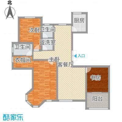 汉森香榭里153.00㎡汉森香榭里户型图高层A户型图3室2厅2卫1厨户型3室2厅2卫1厨