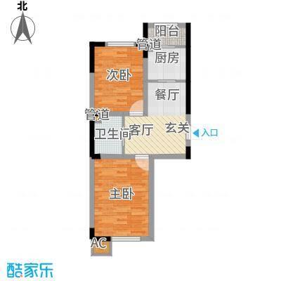 新星宇和悦65.17㎡新星宇和悦户型图二期B户型图2室1厅1卫1厨户型2室1厅1卫1厨